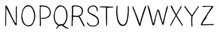 TT Blushes Light Font UPPERCASE