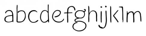 TT Blushes Light Font LOWERCASE