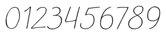 TT Blushes Thin Italic Font OTHER CHARS