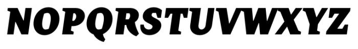 TT Crimsons Black Italic Font UPPERCASE