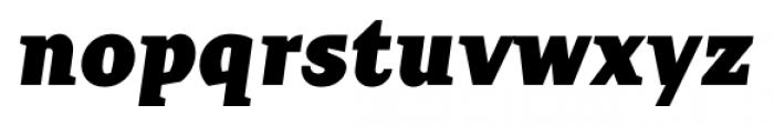 TT Crimsons Black Italic Font LOWERCASE
