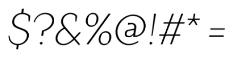 TT Crimsons Light Italic Font OTHER CHARS