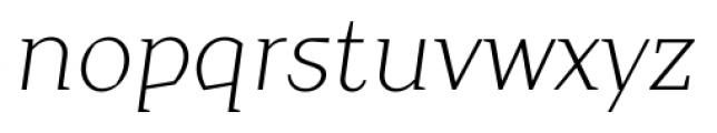 TT Crimsons Light Italic Font LOWERCASE