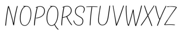 TT Masters Birds Thin Font UPPERCASE