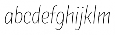 TT Masters Condensed Thin Font LOWERCASE