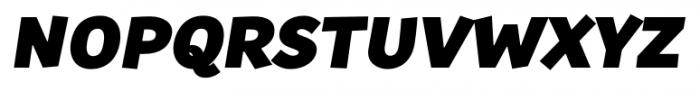 TT Souses Black Italic Font UPPERCASE