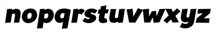 TT Souses Black Italic Font LOWERCASE