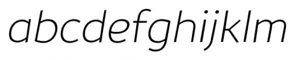TT Souses Thin Bold Italic Font LOWERCASE