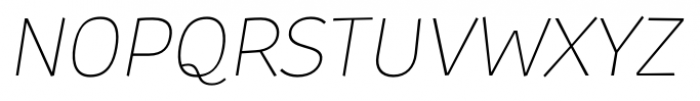 TT Souses Thin Italic Font UPPERCASE