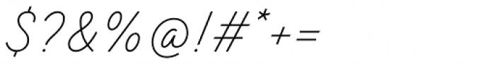TT Backwards Script Thin Font OTHER CHARS
