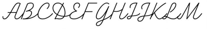 TT Backwards Script Thin Font UPPERCASE