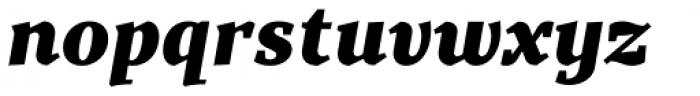 TT Bells Black Italic Font LOWERCASE