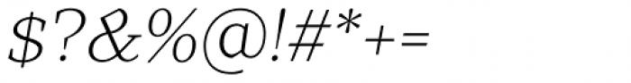 TT Bells Light Italic Font OTHER CHARS