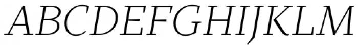 TT Bells Light Italic Font UPPERCASE