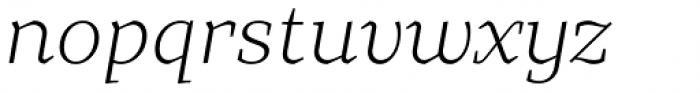 TT Bells Light Italic Font LOWERCASE
