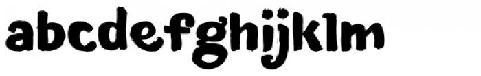 TT Blushes Black Font LOWERCASE