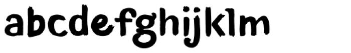 TT Blushes Bold Font LOWERCASE