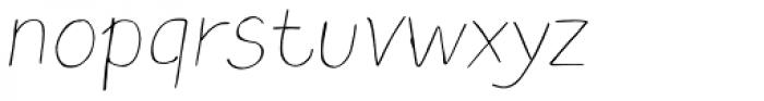 TT Blushes Thin Italic Font LOWERCASE