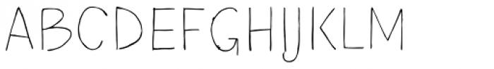 TT Blushes Thin Font UPPERCASE