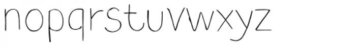 TT Blushes Thin Font LOWERCASE