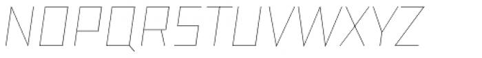 TT Bricks Hairline Italic Font UPPERCASE