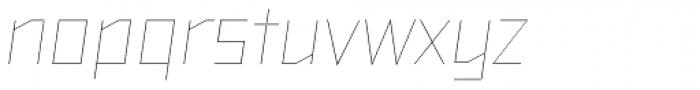 TT Bricks Hairline Italic Font LOWERCASE