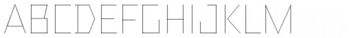 TT Bricks Hairline Font UPPERCASE