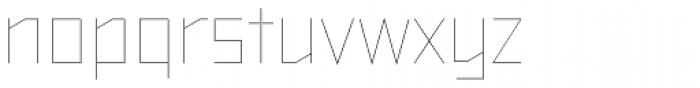 TT Bricks Hairline Font LOWERCASE