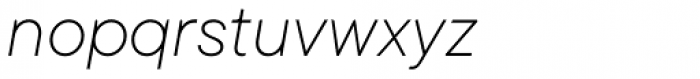 TT Commons Extra Light Italic Font LOWERCASE