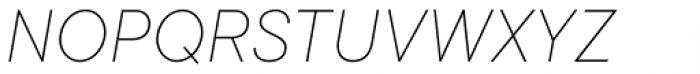 TT Commons Thin Italic Font UPPERCASE