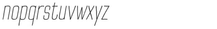 TT Cottons Extra Light Italic Font LOWERCASE