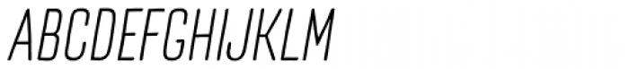 TT Cottons Light Italic Font UPPERCASE