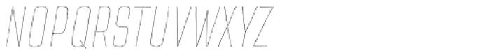 TT Cottons Thin Italic Font UPPERCASE