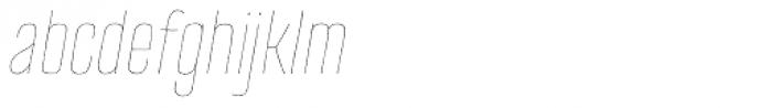 TT Cottons Thin Italic Font LOWERCASE