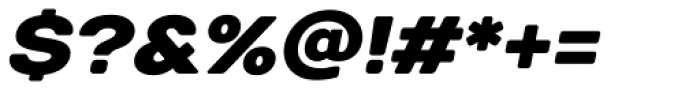 TT Days Sans Black Italic Font OTHER CHARS