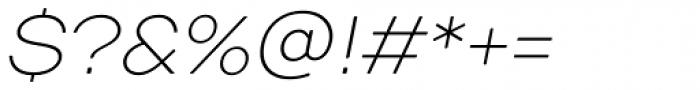 TT Days Sans Thin Italic Font OTHER CHARS