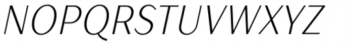 TT Drugs Condensed Light Italic Font UPPERCASE