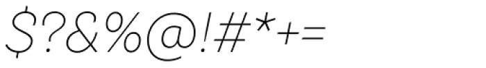 TT Hazelnuts Extra Light Italic Font OTHER CHARS