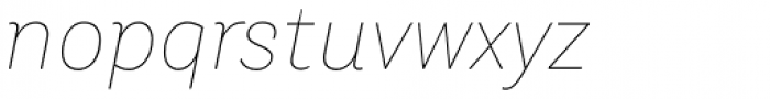 TT Hazelnuts Thin Italic Font LOWERCASE