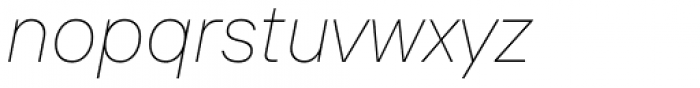 TT Interfaces Thin Italic Font LOWERCASE