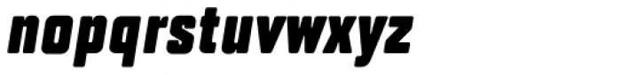 TT Lakes Compressed Black Italic Font LOWERCASE