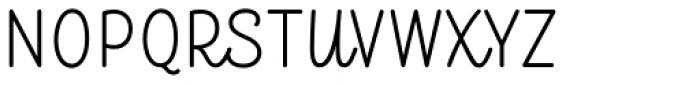 TT Milks Script Light Font UPPERCASE
