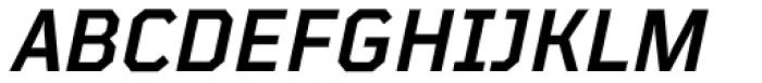 TT Mussels Demi Bold Italic Font UPPERCASE