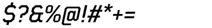 TT Mussels Medium Italic Font OTHER CHARS