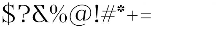 TT Nooks Light Font OTHER CHARS
