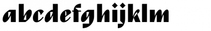 TT Nooks Script Black Font LOWERCASE