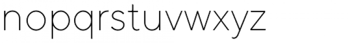TT Norms ExtraLight Font LOWERCASE
