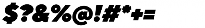 TT Norms Heavy Italic Font OTHER CHARS