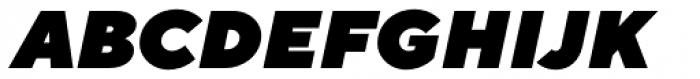 TT Norms Heavy Italic Font UPPERCASE