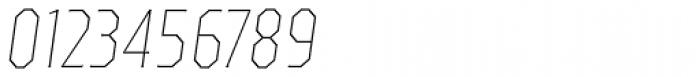 TT Octas Thin Italic Font OTHER CHARS